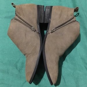 Restricted Ankle Booties. In Khaki. Size 7.